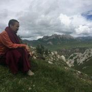 Chogyal Rinpoche & Tibet mountains view